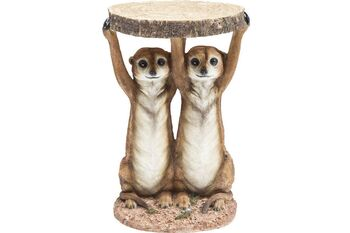 KARE(カレ)79748 Side Table Animal Meerkat Sisters Ø33cm  サイドテーブル
