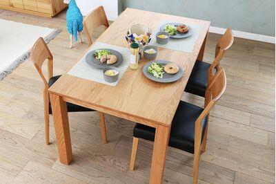 SE 伸長式無垢材ダイニングテーブル 1枚目画像 カラー:OAK(W1400)