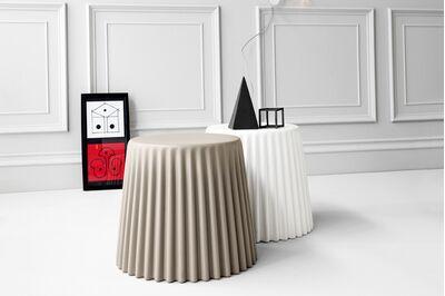 BONALDO(ボナルド) MUFFIN サイドテーブル 1枚目画像 手前:ダブグレー/奥:ホワイト