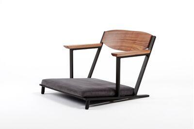 フロアチェア(座椅子) 1枚目画像 ウォールナット 張地:GAMZA チャコール