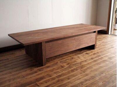 厳選木材のリビングテーブル 1枚目画像 カラー:ウォールナット
