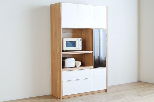 キッチンボード カラー:ホワイト(ホワイト / タモナチュラル)