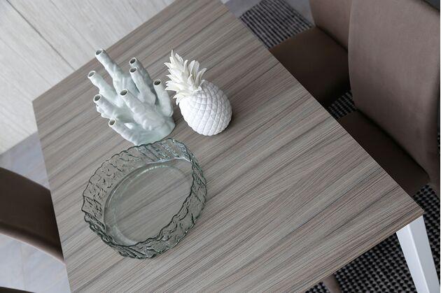 Calligaris (カリガリス) BARON(バロン) 伸長式 ダイニングテーブル 1枚目画像:P649(天板)+P94(ホワイト脚)バロン