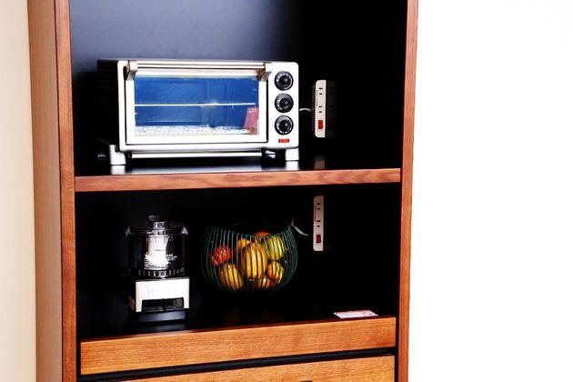 格子ダイニングボード  70KB 家電もすっきり収納