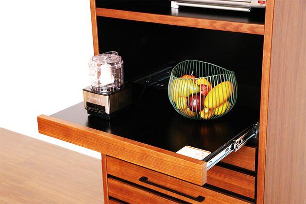 格子ダイニングボード  70KB 炊飯器も簡単に使えるスライド式
