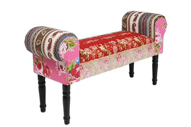 KARE(カレ)75161 Bench Wing Patchwork Red ベンチ
