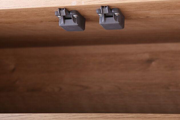 ルシード 120/105オープンダイニングボード ナチュラル色 ダンパー付属で静かに閉まります。