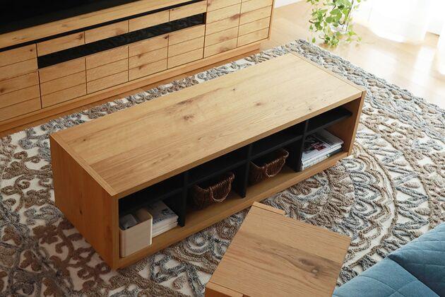 CUDDLE(カドル)ローテーブル 1枚目画像 カラー:OAK/サイズ:W124