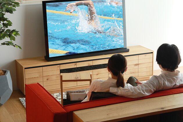 CUDDLE(カドル) テレビボード テレビボード:W200  テレビ:50インチ(参考)