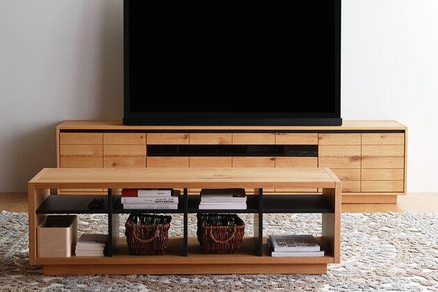 CUDDLE(カドル) テレビボード 節あり材にブラックラインでスッキリとしたデザイン