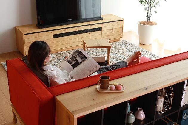 CUDDLE(カドル) テレビボード ソファからテレビを見るのにちょうどいい高さ