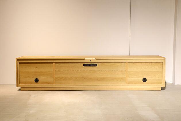 CUDDLE(カドル) テレビボード テレビボード背面 カラ-:OAK/サイズ:200