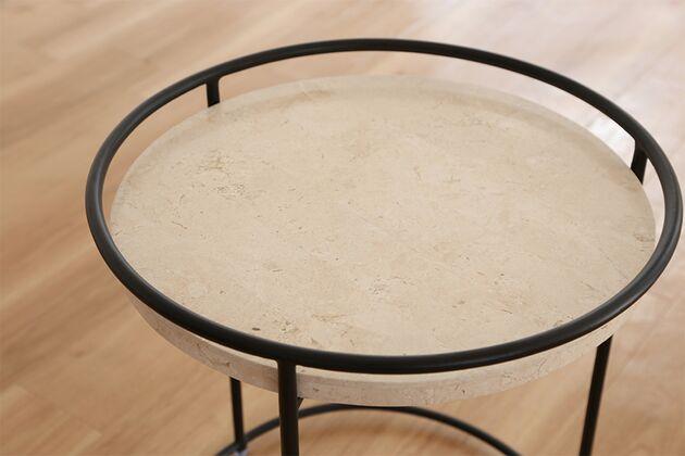 BLANCO サイドテーブル カラー:ICESTONE