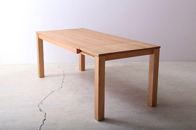 SE 伸長式無垢材ダイニングテーブル カラー:OAK(W1800)