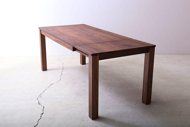 SE 伸長式無垢材ダイニングテーブル カラー:WN(W1800)