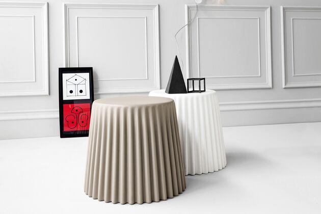 MUFFIN サイドテーブル 1枚目画像 手前:ダブグレー/奥:ホワイト