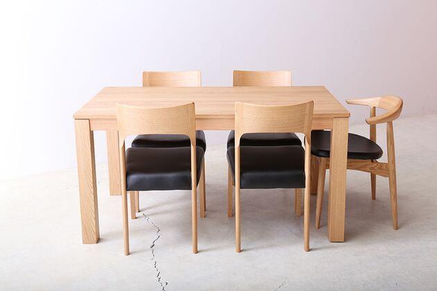 SE 伸長式無垢材ダイニングテーブル 通常時(W1400)