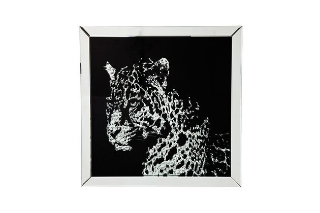 KARE(カレ)35846 Picture Frame Mirror Leopard  80x80cm アート