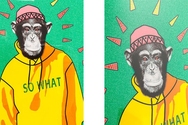 【SALE】KARE(カレ)60888 Picture Frame Gangster Monkey 38x49cm アート