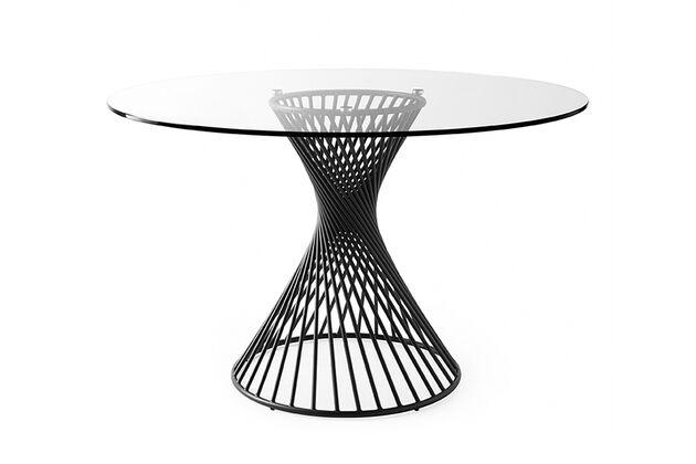 Calligaris (カリガリス) VORTEX(ボルテックス) 円形ダイニングテーブル 天板カラー:GTR クリアガラス