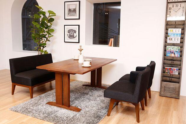 WEBB(ウェッブ)ローダイニングテーブル(WN) ローダイニングでお部屋もスッキリ見えます(高さはご指定いただけます)