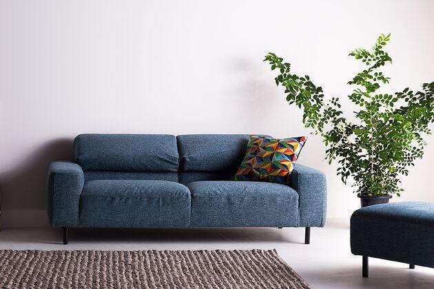 SAIⅡ(サイ2)3Pソファ 背もたれを折りたたんでローバックソファにするとスッキリ