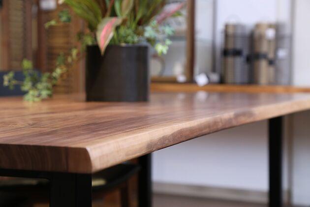 at will(アットウィル)ダイニングテーブル(耳付き)[200×90×72cm] 天然の美しい曲線