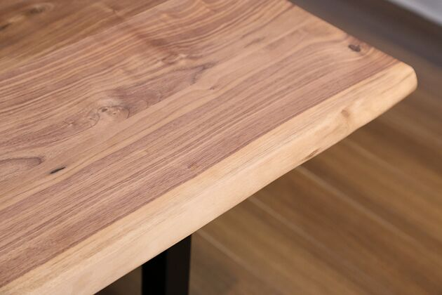 at will(アットウィル)ダイニングテーブル(耳付き)[200×90×72cm] ウォルナット天板耳部分の白太(天然木なので白太がない場合もあります)