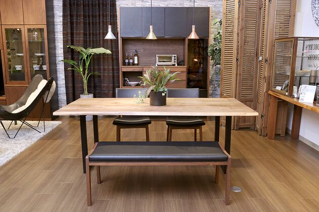 at will(アットウィル)ダイニングテーブル(耳付き)[200×90×72cm] 写真サイズ:W2000×D900×H720