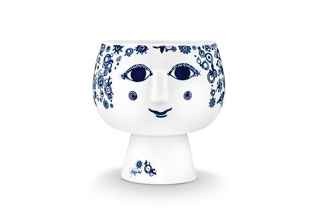 55035 BW Flowerpot with foot Juliane blue 16
