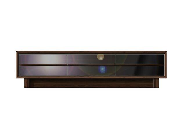 〖24〗グレーガラス テレビボード 180テレビボード / ウォールナット