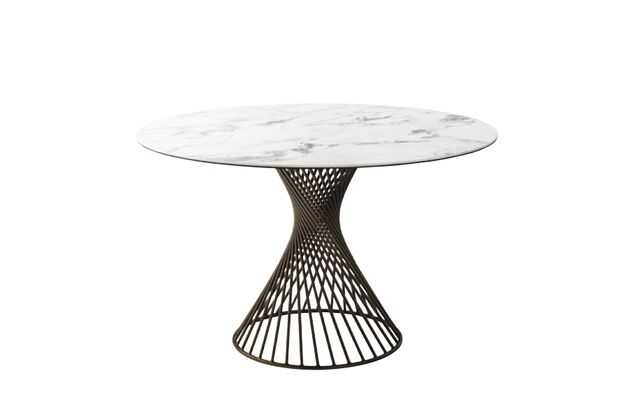 Calligaris (カリガリス) VORTEX(ボルテックス) 円形ダイニングテーブル(セラミック) 天板:P2C、脚:P29L
