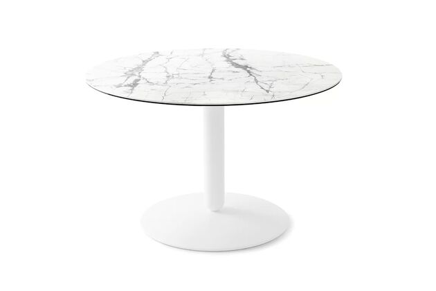 Calligaris (カリガリス) Balance(バランス) 円形ダイニングテーブル(セラミック) 天板:P2C、脚:P94