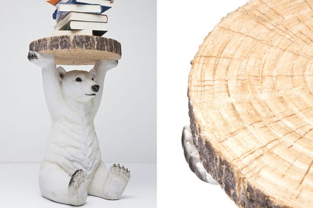 KARE(カレ)78943 Side Table Animal Polar Bear Ø37cm  サイドテーブル