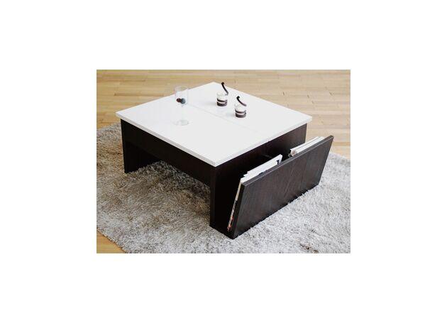 昇降式リビングテーブル カラー:ホワイトウェンジ