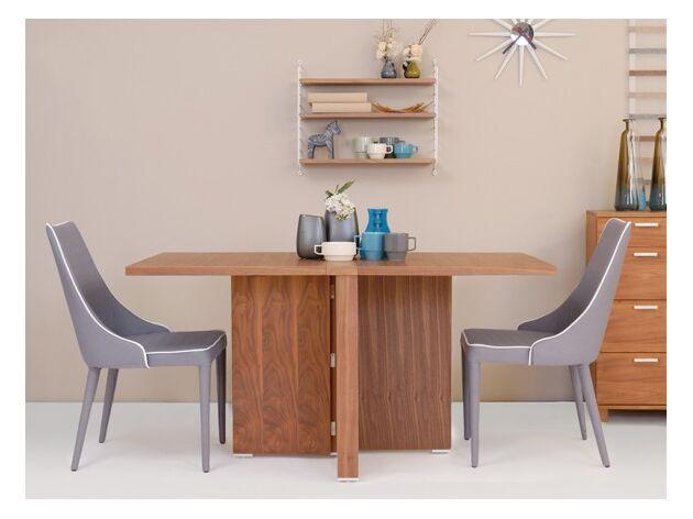 折りたたみダイニングテーブル 1枚目画像 カラー:ウォールナット/サイズ:W1400mm(両側伸長)
