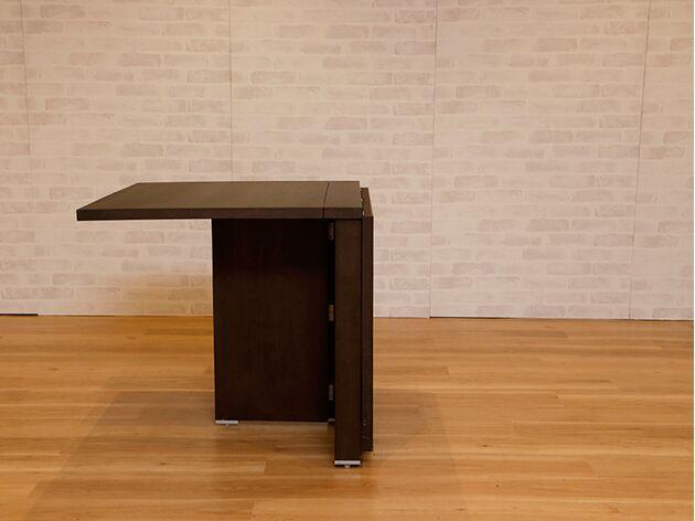 折りたたみダイニングテーブル カラー:ウェンジ/サイズ:780mm(片側伸長)
