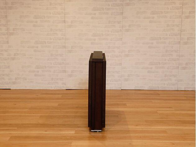 折りたたみダイニングテーブル カラー:ウェンジ/サイズ:160mm(伸長無し)
