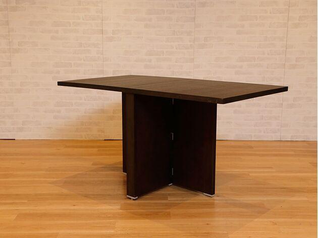折りたたみダイニングテーブル カラー:ウェンジ/サイズ:1400mm(両側伸長)