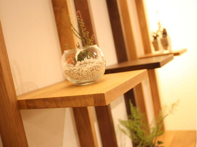 天然木オープンラック 素材:ホワイトオーク