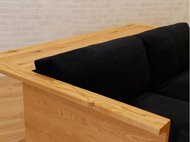 HIRASHIMA(ヒラシマ)CARAMELLA(カラメッラ) カウンターソファ210 美しいオーク材の木目